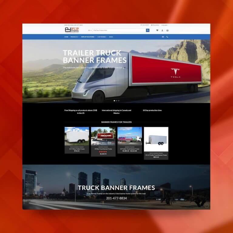easy flip frames, ecommerce web design, g7 studios