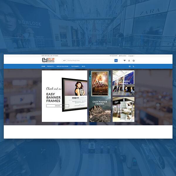 easy flip frames ecommerce web design g7 studios