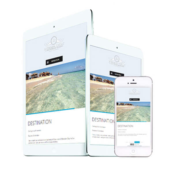 ensenada resort mobile responsive web design