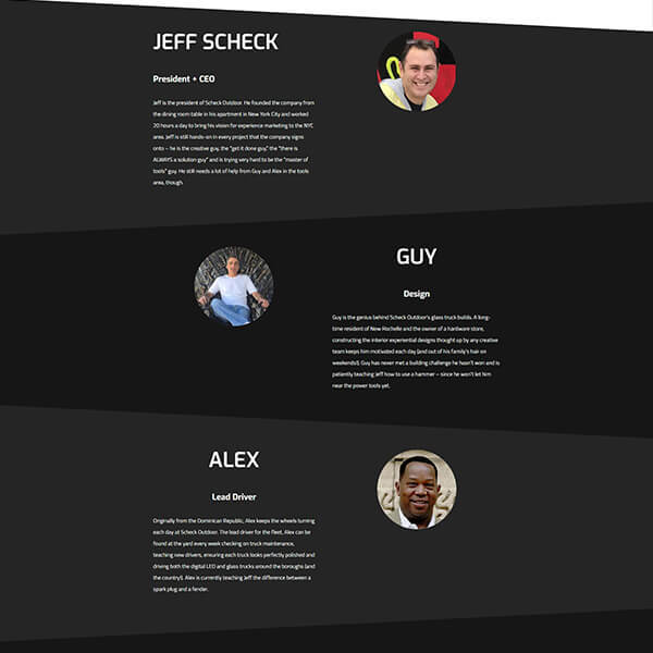 soa team web site page design g7 studios