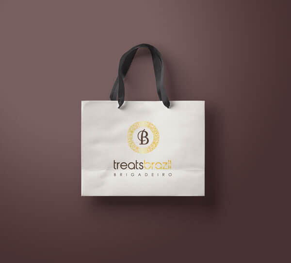 treats brazil branding shoppiong bag g7 stuios