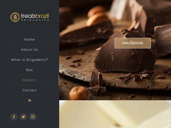 treats brazil web design design menu detail g7 studios